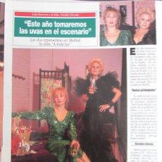 Coleccionismo de Revista Diez Minutos: RECORTE REVISTA DIEZ MINUTOS N.º 2158 1993 LOLA HERRERA Y NATALIA DICENTA,. Lote 254987285