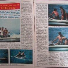 Coleccionismo de Revista Diez Minutos: RECORTE REVISTA DIEZ MINUTOS N.º 1465 1979 PAQUIRRI, LOLITA, CARMEN ORDÓÑEZ. 3 PGS. Lote 254988585