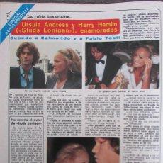 Coleccionismo de Revista Diez Minutos: RECORTE REVISTA DIEZ MINUTOS N.º 1465 1979 URSULA ANDRESS Y HARRY HAMLIN. Lote 254989610