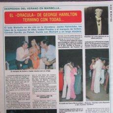 Coleccionismo de Revista Diez Minutos: RECORTE REVISTA DIEZ MINUTOS N.º 1465 1979 GEORGE HAMILTON, JACKIE LANE.. Lote 254990875