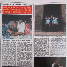 Coleccionismo de Revista Diez Minutos: RECORTE REVISTA DIEZ MINUTOS N.º 1465 1979 RICHARD KIEL, JAIME DE MORA Y ARAGÓN. Lote 254991220