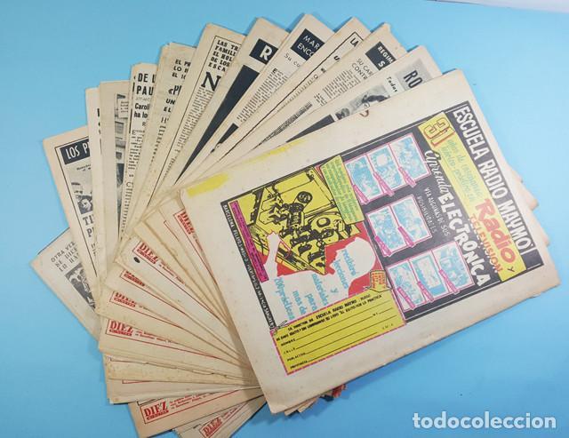Coleccionismo de Revista Diez Minutos: LOTE 14 REVISTAS DIEZ MINUTOS 1952 A 1963, Nº 47,48,50,553,558,563,565,570,571,572,573,574,575 Y 615 - Foto 2 - 254998070