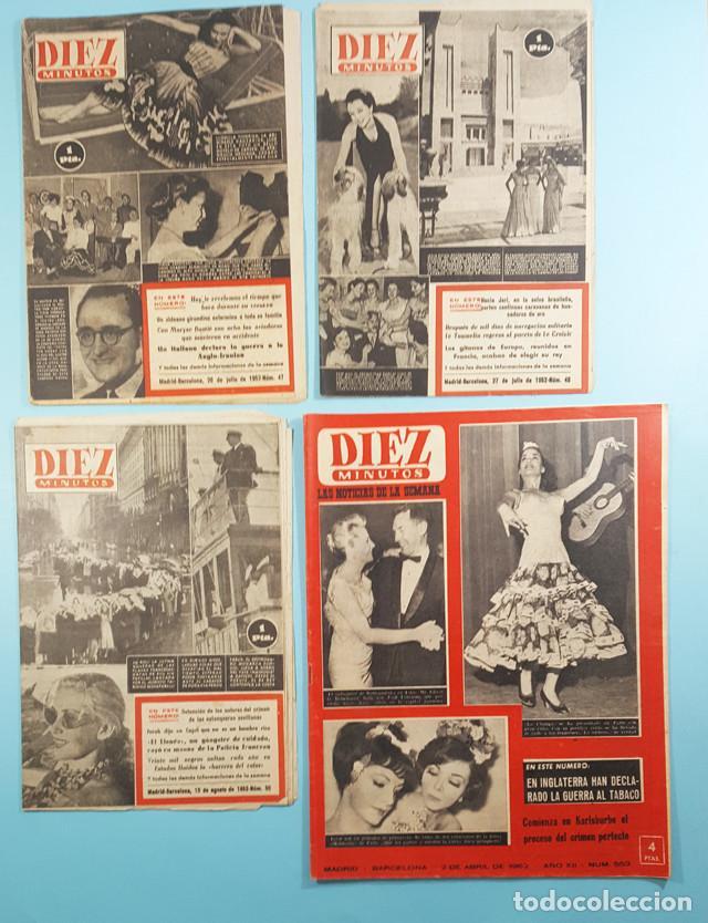 Coleccionismo de Revista Diez Minutos: LOTE 14 REVISTAS DIEZ MINUTOS 1952 A 1963, Nº 47,48,50,553,558,563,565,570,571,572,573,574,575 Y 615 - Foto 3 - 254998070