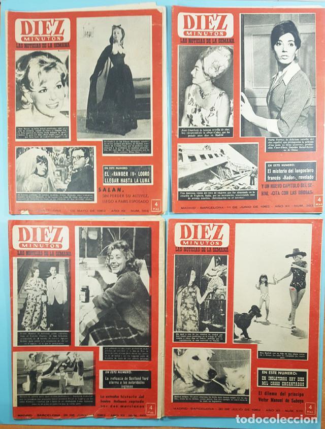Coleccionismo de Revista Diez Minutos: LOTE 14 REVISTAS DIEZ MINUTOS 1952 A 1963, Nº 47,48,50,553,558,563,565,570,571,572,573,574,575 Y 615 - Foto 4 - 254998070