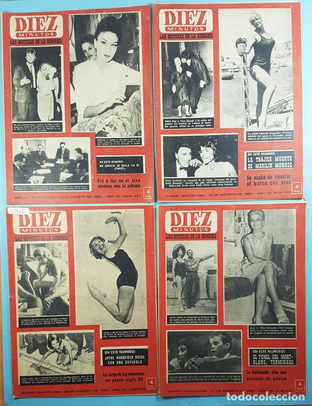 Coleccionismo de Revista Diez Minutos: LOTE 14 REVISTAS DIEZ MINUTOS 1952 A 1963, Nº 47,48,50,553,558,563,565,570,571,572,573,574,575 Y 615 - Foto 5 - 254998070