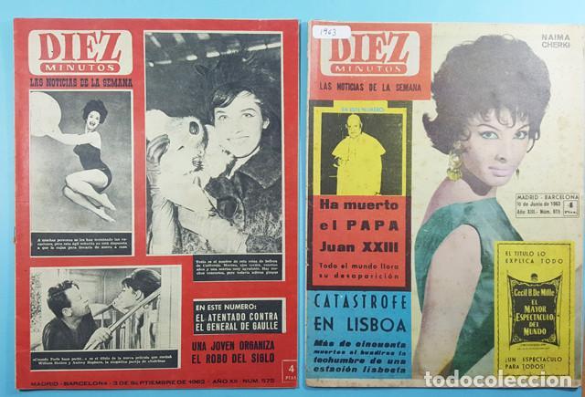 Coleccionismo de Revista Diez Minutos: LOTE 14 REVISTAS DIEZ MINUTOS 1952 A 1963, Nº 47,48,50,553,558,563,565,570,571,572,573,574,575 Y 615 - Foto 6 - 254998070