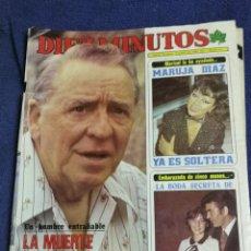 Coleccionismo de Revista Diez Minutos: REVISTA. DIES MINUTOS. NUMERO 1594. PACO MARTINEZ SORIA. MARUJA DIAZ. AMPARO LARRAÑAGA. Lote 257826560