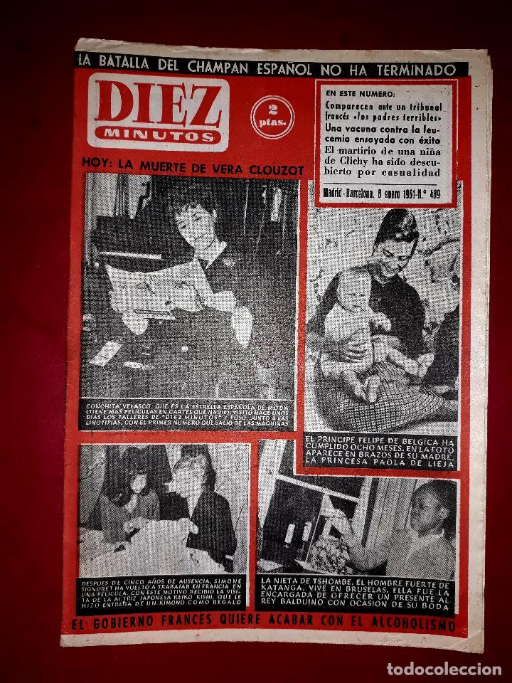 REVISTA DIEZ MINUTOS Nº 489 8 ENERO1961 ( CONCHA VELASCO, EL PRÍNCIPE DE BELGICA...) (Coleccionismo - Revistas y Periódicos Modernos (a partir de 1.940) - Revista Diez Minutos)