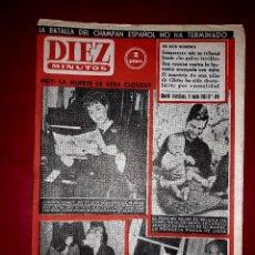 Coleccionismo de Revista Diez Minutos: REVISTA DIEZ MINUTOS Nº 489 8 ENERO1961 ( CONCHA VELASCO, EL PRÍNCIPE DE BELGICA...). Lote 258003725