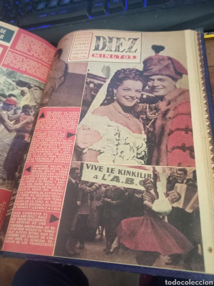 Coleccionismo de Revista Diez Minutos: SUCESOS. CRÓNICA SENTIMENTAL DEL MES. Nº 37-47 + DIEZ MINUTOS. 11 VOL. GRÁFICAS ESPEJO. MADRID, 1956 - Foto 3 - 259228080