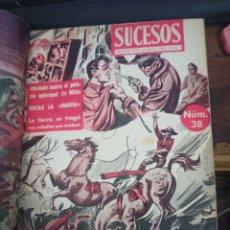 Coleccionismo de Revista Diez Minutos: SUCESOS. CRÓNICA SENTIMENTAL DEL MES. Nº 37-47 + DIEZ MINUTOS. 11 VOL. GRÁFICAS ESPEJO. MADRID, 1956. Lote 259228080