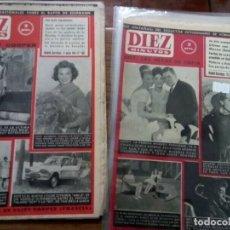 Coleccionismo de Revista Diez Minutos: LOTE DE 53 REVISTAS DIEZ MINUTOS AÑOS 1954/61,VER. Lote 260372220