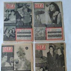 Coleccionismo de Revista Diez Minutos: 4X REVISTA DIEZ MINUTOS DE ENERO 1958 TODO 10 PAGINAS COMPLETO,LOLA FLORES Y MUCHO MAS. Lote 260665630