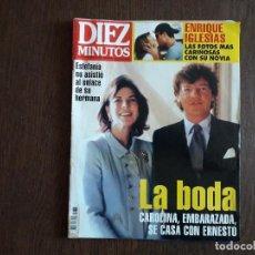Coleccionismo de Revista Diez Minutos: REVISTA DIEZ MINUTOS, NÚMERO 2476, 05-02-99, BODA CAROLINA Y ERNESTO DE HANNOVER.. Lote 261266670