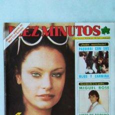 Coleccionismo de Revista Diez Minutos: DIEZ MINUTOS NADIUSKA, PAQUIRRI, MIGUEL BOSE, DALI, ANA OBREGON. 1980.VER FOTOS. Lote 261608255