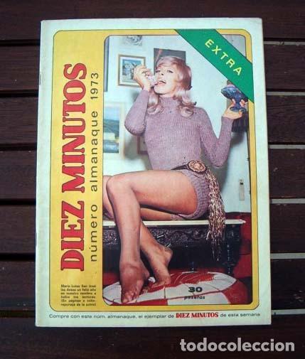 DIEZ MINUTOS EXTRA ALMANAQUE / CALENDARIO 1973 / AGATA LYS, DAGMAR LASSANDER, HELGA LINE, BARDOT ++ (Coleccionismo - Revistas y Periódicos Modernos (a partir de 1.940) - Revista Diez Minutos)