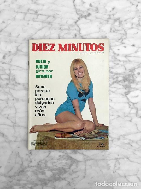 DIEZ MINUTOS - 1970 - GELA GEISLER, CARMEN SEVILLA, ROCIO DURCAL Y JUNIOR, MARIA SILVA, GUESS WHO (Coleccionismo - Revistas y Periódicos Modernos (a partir de 1.940) - Revista Diez Minutos)