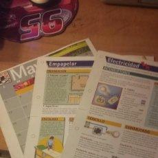 Coleccionismo de Revista Diez Minutos: 3 LÁMINAS DE CASA DIEZ (REVISTA DIEZ MINUTOS).MES DE MAYO, ELECTRICIDAD Y EMPAPELAR. Lote 261871670