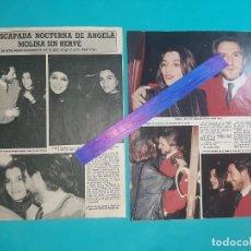 Coleccionismo de Revista Diez Minutos: ANGELA MOLINA ESCAPADA NOCTURNA SIN HERVE RECORTE 2 PAG -DIEZ MINUTOS AÑO 1987. Lote 262328420