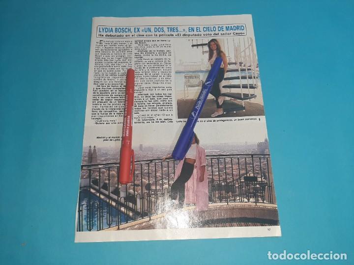 LYDIA BOSCH DEBUTA EN PELICULA DISPUTADO SEÑOR CAYO-ENTREVISTA- RECORTE 2 PAG- DIEZ MINUTOS AÑO 1986 (Coleccionismo - Revistas y Periódicos Modernos (a partir de 1.940) - Revista Diez Minutos)