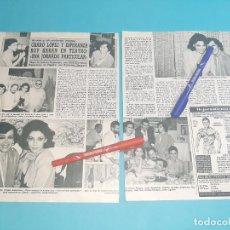 Coleccionismo de Revista Diez Minutos: CHARO LOPEZ Y ESPERANZA ROY -ENTREVISTA- RECORTE 2 PAG- DIEZ MINUTOS AÑO 1986. Lote 262331065