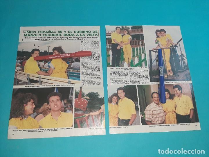 MISS ESPAÑA AMPARO MARTINEZ Y SOBRINO MANOLO ESCOBAR -ENTREVISTA-RECORTE 2 PAG-DIEZ MINUTOS AÑO 1986 (Coleccionismo - Revistas y Periódicos Modernos (a partir de 1.940) - Revista Diez Minutos)