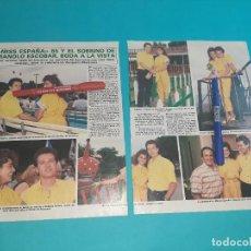 Coleccionismo de Revista Diez Minutos: MISS ESPAÑA AMPARO MARTINEZ Y SOBRINO MANOLO ESCOBAR -ENTREVISTA-RECORTE 2 PAG-DIEZ MINUTOS AÑO 1986. Lote 262331110