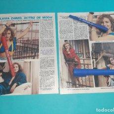 Coleccionismo de Revista Diez Minutos: FLAVIA ZARZO HIJA DE MANOLO ZARZO - ENTREVISTA -RECORTE 2 PAG-DIEZ MINUTOS AÑO 1986. Lote 262331145