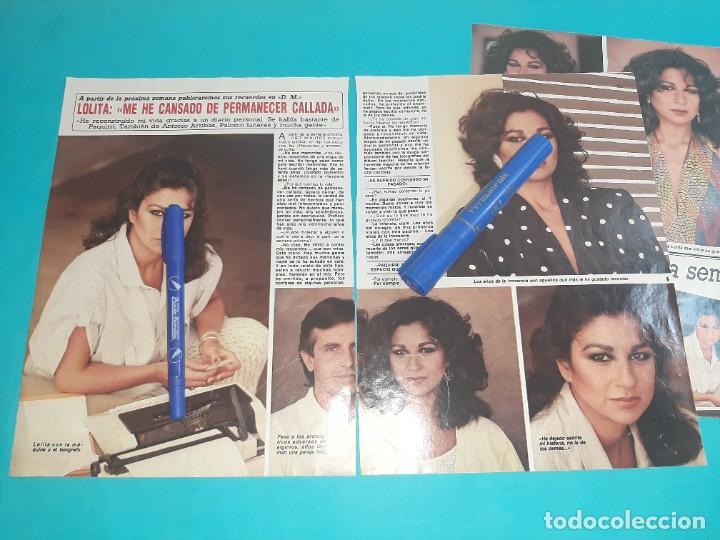 LOLITA FLORES ME CANSADO DE PERMANECER CALLADA - ENTREVISTA - RECORTE 4 PAG- DIEZ MINUTOS AÑO 1986 (Coleccionismo - Revistas y Periódicos Modernos (a partir de 1.940) - Revista Diez Minutos)