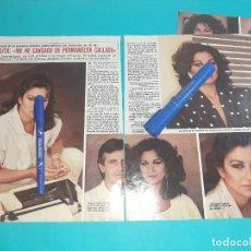 Coleccionismo de Revista Diez Minutos: LOLITA FLORES ME CANSADO DE PERMANECER CALLADA - ENTREVISTA - RECORTE 4 PAG- DIEZ MINUTOS AÑO 1986. Lote 262331180