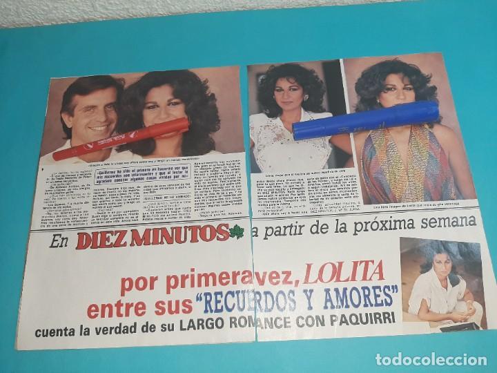 Coleccionismo de Revista Diez Minutos: LOLITA FLORES ME CANSADO DE PERMANECER CALLADA - ENTREVISTA - RECORTE 4 PAG- DIEZ MINUTOS AÑO 1986 - Foto 2 - 262331180