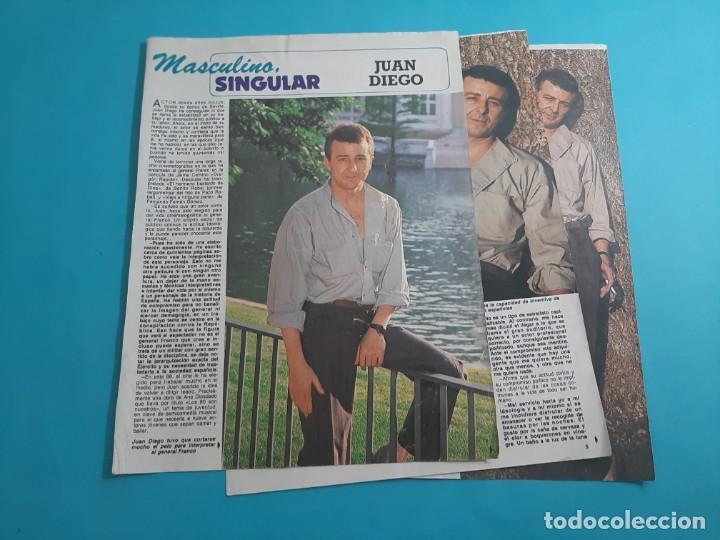 JUAN DIEGO - ENTREVISTA - RECORTE 4 PAG- DIEZ MINUTOS AÑO 1986 (Coleccionismo - Revistas y Periódicos Modernos (a partir de 1.940) - Revista Diez Minutos)