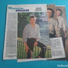 Coleccionismo de Revista Diez Minutos: JUAN DIEGO - ENTREVISTA - RECORTE 4 PAG- DIEZ MINUTOS AÑO 1986. Lote 262331190