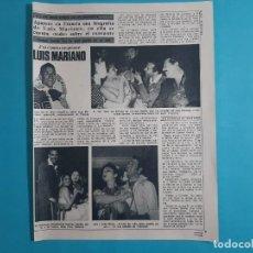 Coleccionismo de Revista Diez Minutos: LUIS MARIANO CARMEN SEVILLA Y LOLA FLORES -EN BIOGRAFIA- 2 PAG- RECORTE DIEZ MINUTOS AÑO 1976. Lote 262493650