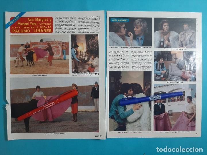 ANN MARUET MICHAEL YORK INVITADOS FINCA PALOMO LINARES- 2 PAG- RECORTE DIEZ MINUTOS AÑO 1976 (Coleccionismo - Revistas y Periódicos Modernos (a partir de 1.940) - Revista Diez Minutos)