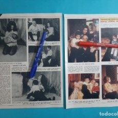 Coleccionismo de Revista Diez Minutos: EXCLUSIVA -SOFIA LOREN CARLO PONTI Y HIJOS- 2 PAG- RECORTE DIEZ MINUTOS AÑO 1976. Lote 262493870