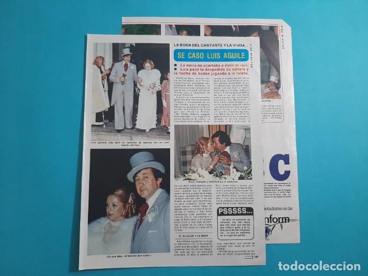 LUIS AGUILE SE CASO - 3 PAG- RECORTE DIEZ MINUTOS AÑO 1976 (Coleccionismo - Revistas y Periódicos Modernos (a partir de 1.940) - Revista Diez Minutos)