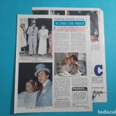 Coleccionismo de Revista Diez Minutos: LUIS AGUILE SE CASO - 3 PAG- RECORTE DIEZ MINUTOS AÑO 1976. Lote 262493890