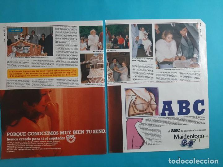 Coleccionismo de Revista Diez Minutos: LUIS AGUILE SE CASO - 3 PAG- RECORTE DIEZ MINUTOS AÑO 1976 - Foto 2 - 262493890