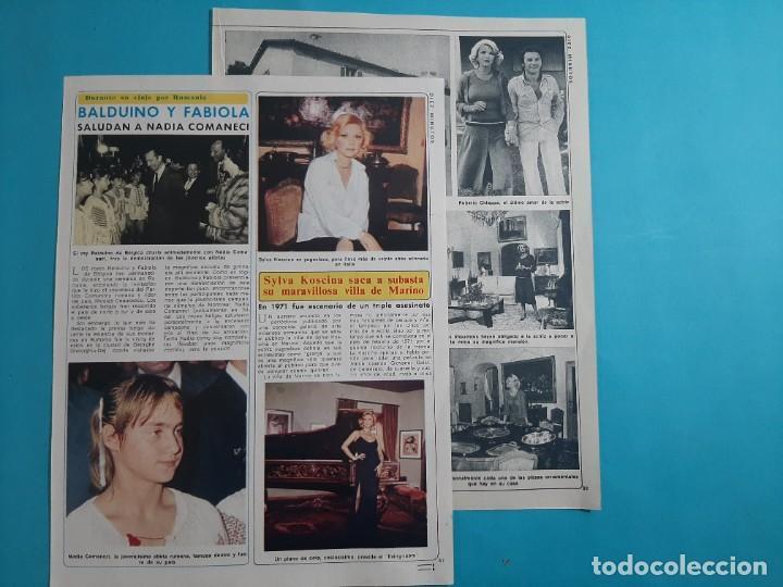 SYLVA KOSCINA SACA A SUBASTA VILLA DE MARINO - 3 PAG- RECORTE DIEZ MINUTOS AÑO 1976 (Coleccionismo - Revistas y Periódicos Modernos (a partir de 1.940) - Revista Diez Minutos)