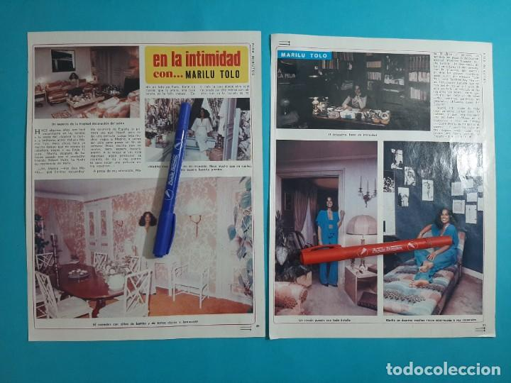 MARILU TOLO EN LA INTIMIDAD - 3 PAG- RECORTE DIEZ MINUTOS AÑO 1976 (Coleccionismo - Revistas y Periódicos Modernos (a partir de 1.940) - Revista Diez Minutos)