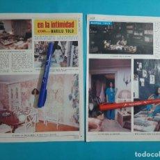 Coleccionismo de Revista Diez Minutos: MARILU TOLO EN LA INTIMIDAD - 3 PAG- RECORTE DIEZ MINUTOS AÑO 1976. Lote 262493920