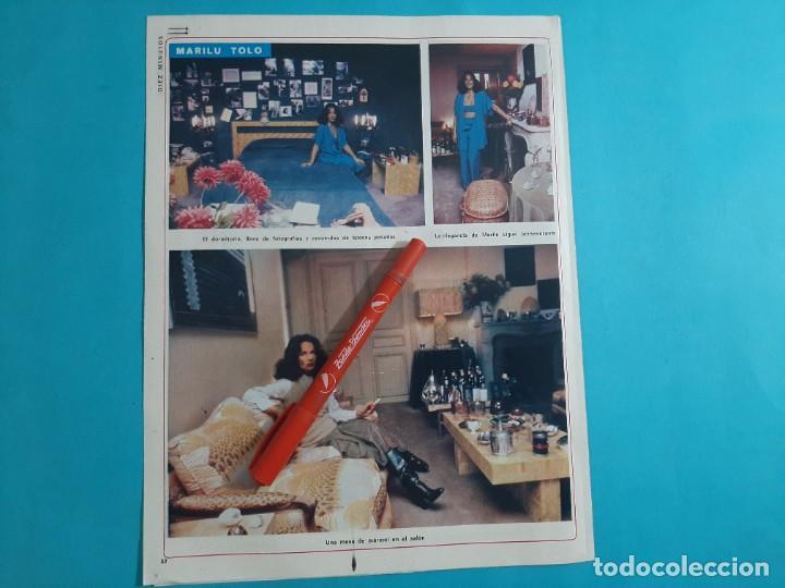 Coleccionismo de Revista Diez Minutos: MARILU TOLO EN LA INTIMIDAD - 3 PAG- RECORTE DIEZ MINUTOS AÑO 1976 - Foto 2 - 262493920