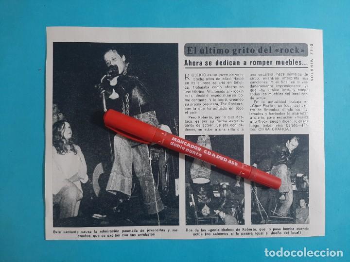 ROBERTO THE ROCKERS- RECORTE DIEZ MINUTOS AÑO 1976 (Coleccionismo - Revistas y Periódicos Modernos (a partir de 1.940) - Revista Diez Minutos)