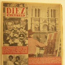 Coleccionismo de Revista Diez Minutos: REVISTA DIEZ MINUTOS Nº 193 1955. Lote 262614450