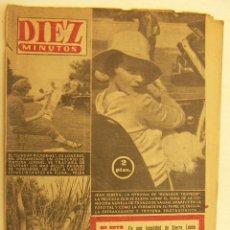 Coleccionismo de Revista Diez Minutos: REVISTA DIEZ MINUTOS Nº 316 1957. Lote 262614695