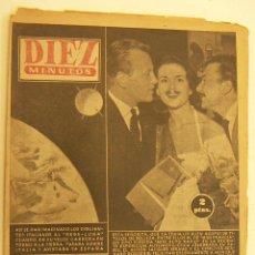 Coleccionismo de Revista Diez Minutos: REVISTA DIEZ MINUTOS Nº 322 1957. Lote 262614990