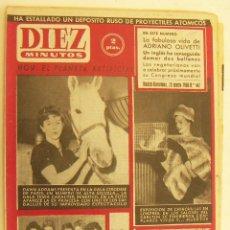 Coleccionismo de Revista Diez Minutos: REVISTA DIEZ MINUTOS Nº 447 1960. Lote 262615315