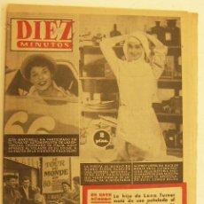 Coleccionismo de Revista Diez Minutos: REVISTA DIEZ MINUTOS Nº 347 1958. Lote 262615460