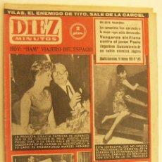 Coleccionismo de Revista Diez Minutos: REVISTA DIEZ MINUTOS Nº 495 1961. Lote 262617325